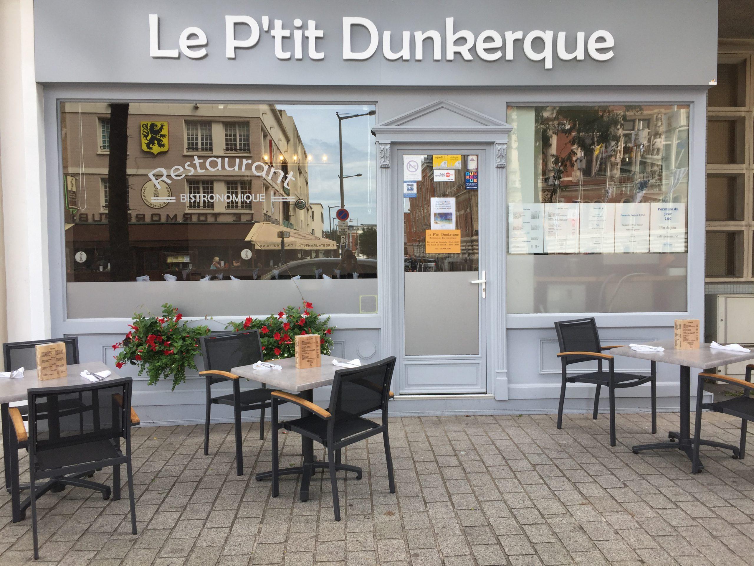 Le Ptit Dunkerque - accueil - a propos - facade et terrasse