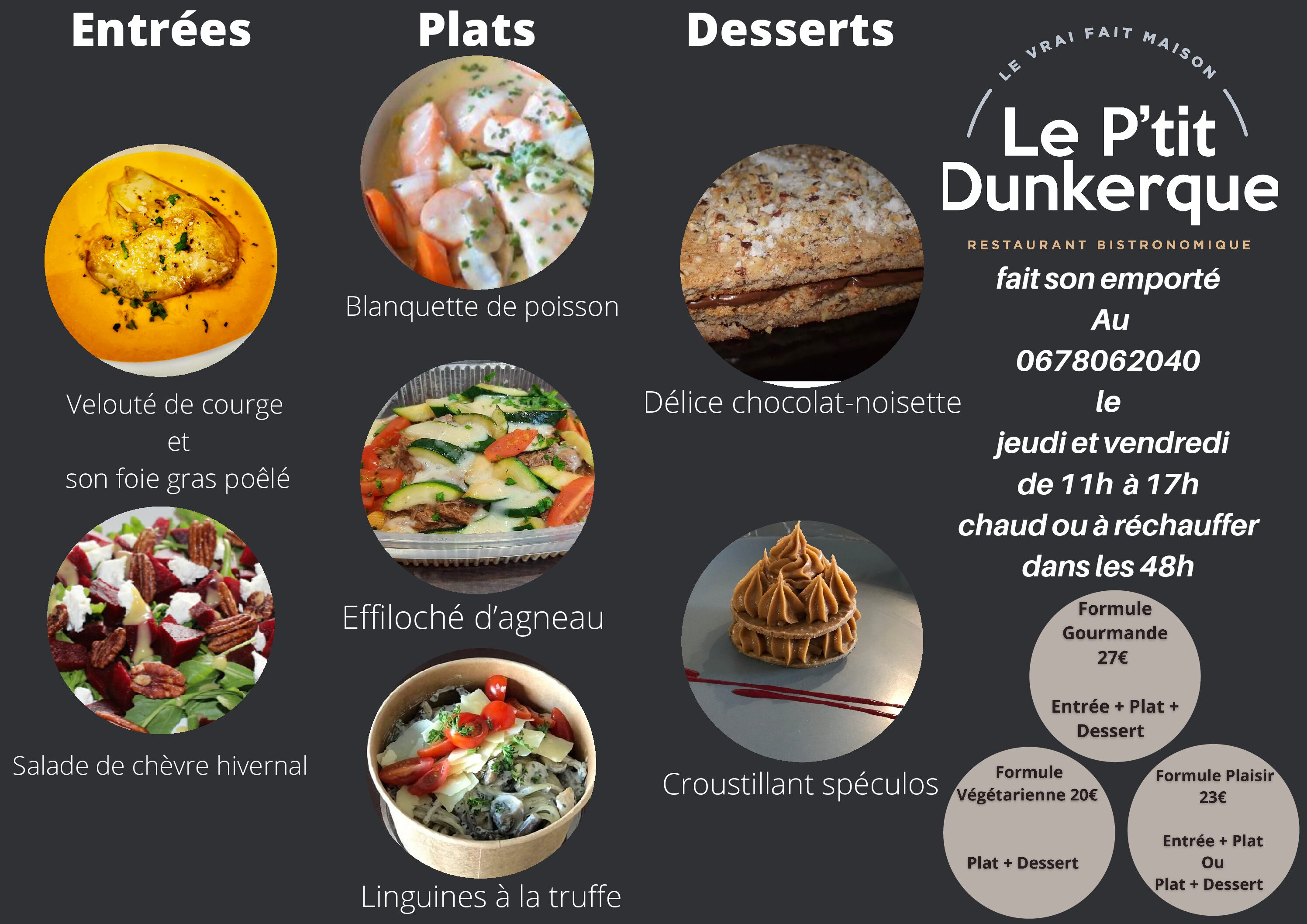 MENU CONFINEMENT 2.0 semaine 5