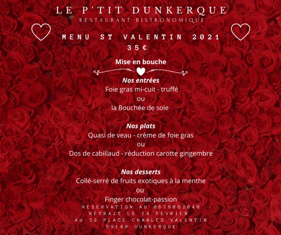 Menu St Valentin 2021