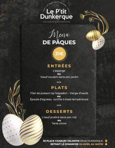 Le Ptit Dunkerque - menu paques