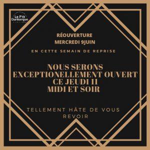 Le Ptit Dunkerque - reouverture invitation