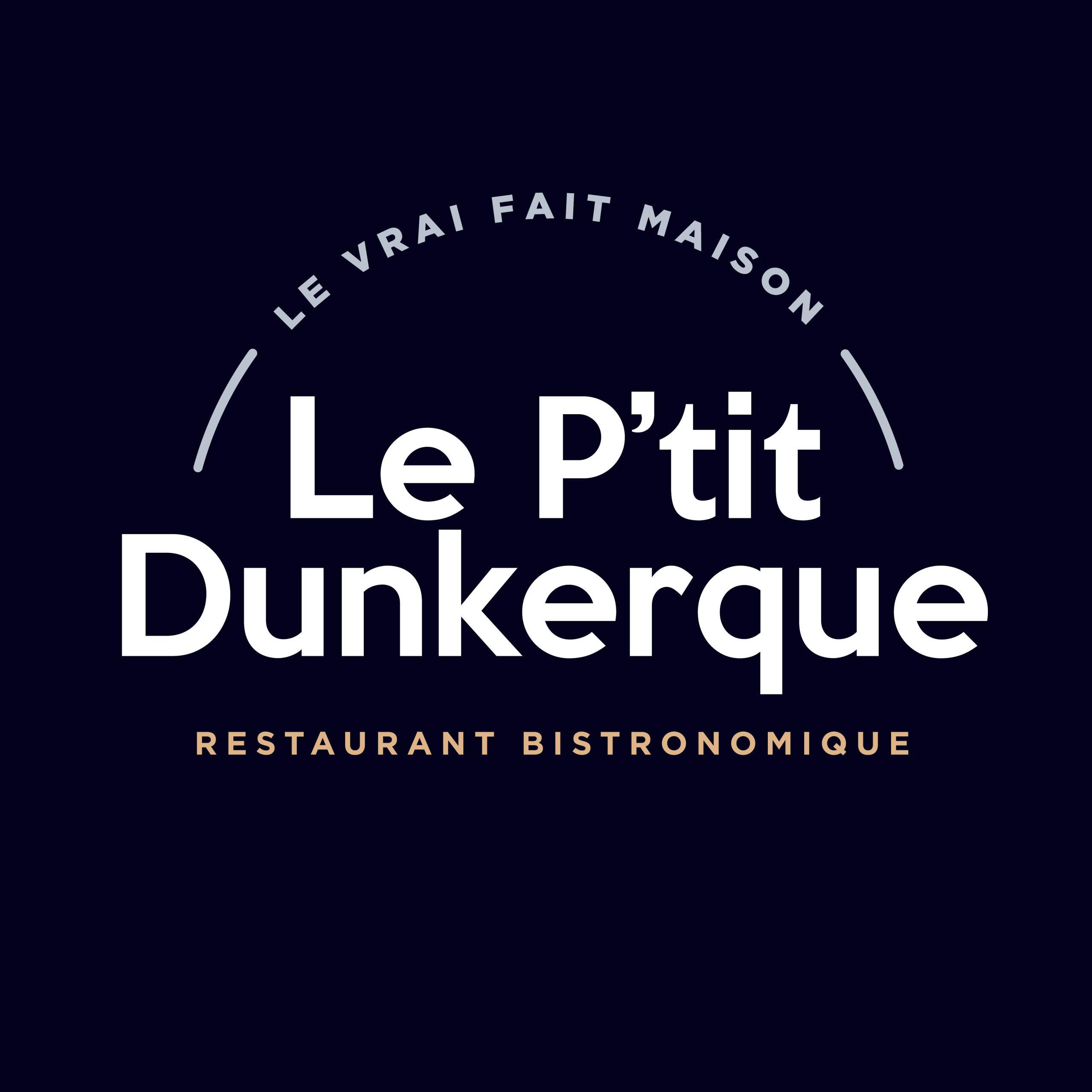 Le Ptit Dunkerque - logo sur fond bleu nuit
